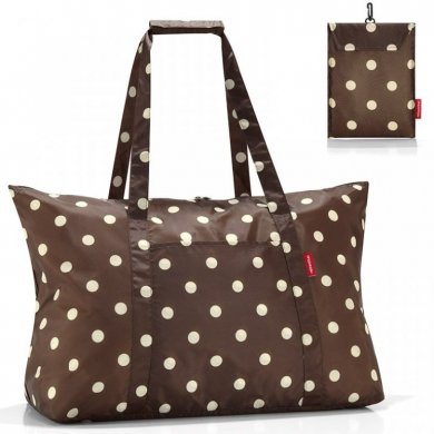 Сумка складная Reisenthel Mini maxi travelbag mocha dots
